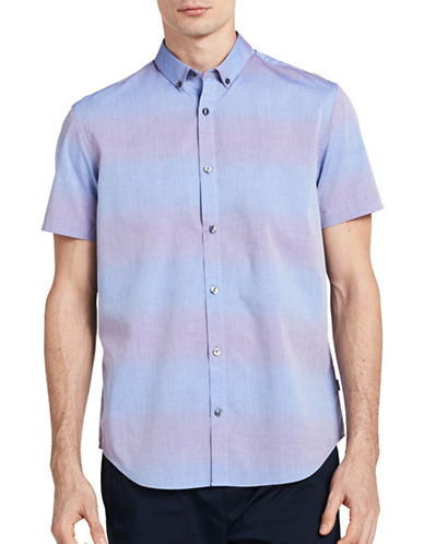 Calvin Klein Ombre Sport Shirt-BLUE-Medium