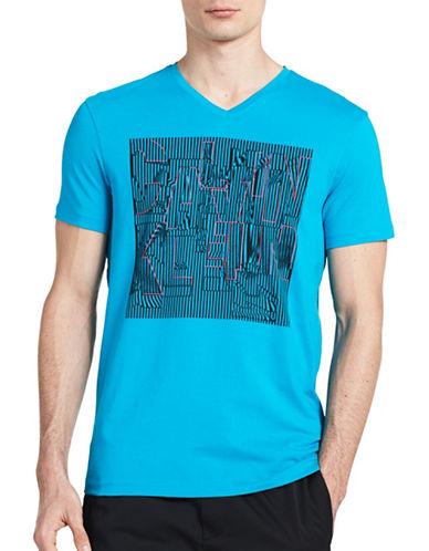 Calvin Klein Stretch V-Neck Graphic T-Shirt-BLUE-Large 89298620_BLUE_Large