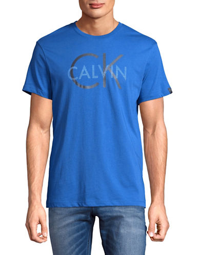 Calvin Klein Split Logo Graphic T-Shirt-BLUE-X-Large 89392040_BLUE_X-Large