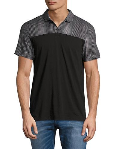Calvin Klein Slim Fit Jersey Blocked Polo-BLACK-Small