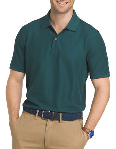 Izod Advantage Contrast Polo-GREEN-Small