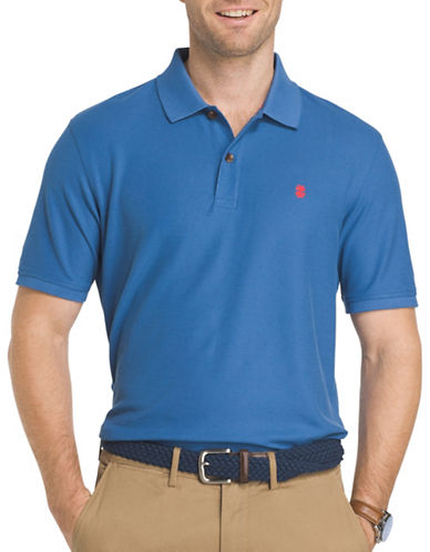 Izod Advantage Contrast Polo-BLUE-Medium