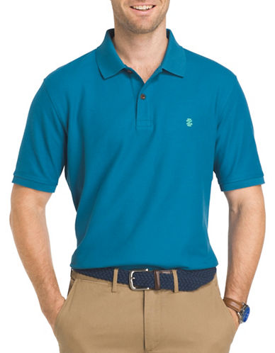Izod Advantage Contrast Polo-SAX BLUE-Medium