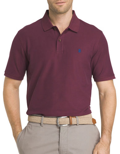 Izod Advantage Contrast Polo-DARK PURPLE-Small