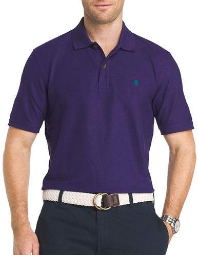 Izod Advantage Contrast Polo-PURPLE-Small