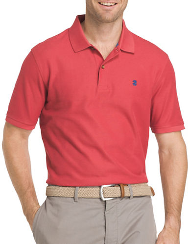 Izod Advantage Contrast Polo-RED-Small