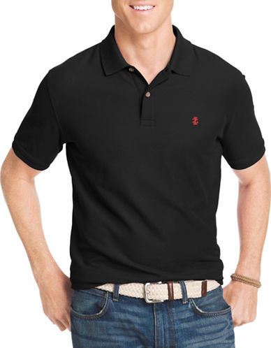 Izod Advantage Polo-BLACK-1X Tall