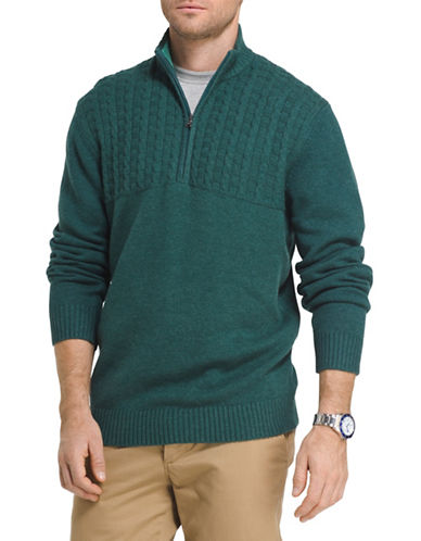 Izod Cable-Knit Sweater-GREEN-2X Big