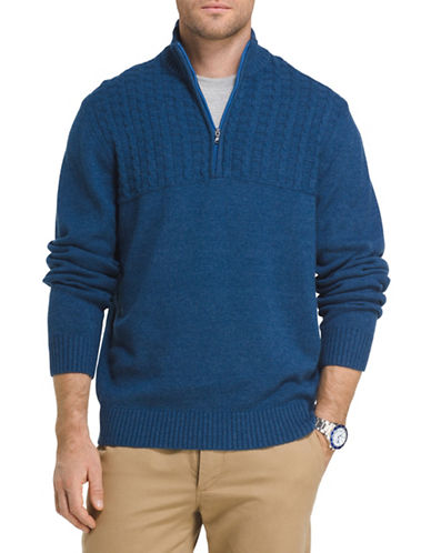 Izod Cable-Knit Sweater-BLUE-1X Tall