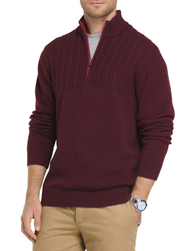 Izod Cable-Knit Sweater-PURPLE-3X Big