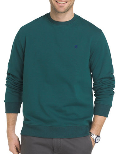 Izod Advantage Fleece Sweatshirt-GREEN-Medium