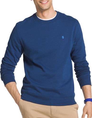 Izod Advantage Fleece Sweatshirt-TRUE BLUE-Medium