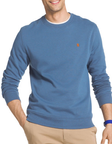 Izod Advantage Fleece Sweatshirt-LIGHT BLUE-X-Large