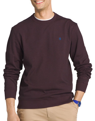 Izod Advantage Fleece Sweatshirt-PURPLE-XX-Large