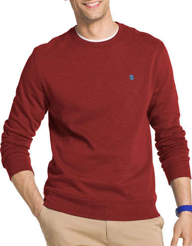 Izod Advantage Fleece Sweatshirt-RED-X-Large