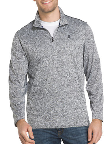 Izod Zip Sweater-GREY-Large