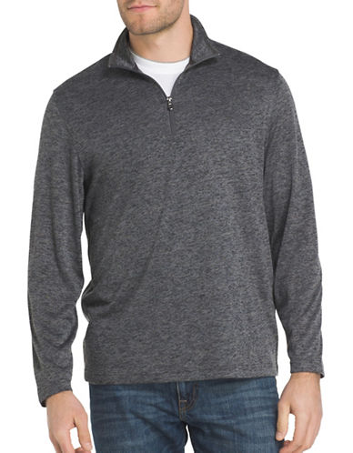 Izod Zip Sweater-GREY-X-Large