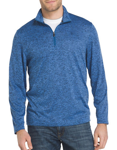 Izod Zip Sweater-BLUE-X-Large