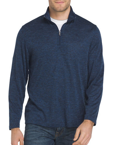 Izod Zip Sweater-BLUE-Small