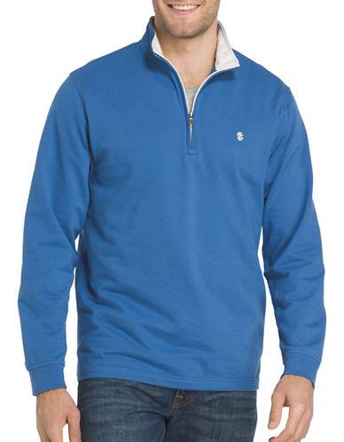 Izod Stand Collar Sweater-BLUE-Small