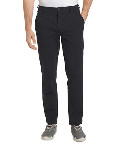 Izod Straight Fit Chino Pants-BLACK-34X32