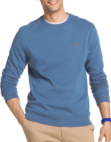 Izod Advantage Stretch Fleece Sweater-LIGHT BLUE-2X Big