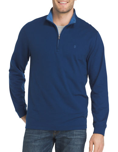 Izod Stand Collar Sweater-BLUE-Medium 89428201_BLUE_Medium