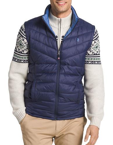 Izod Advantage Performance Puffer Vest-BLUE-Large