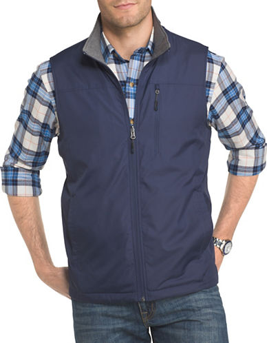 Izod Advantage Performance Reversible Vest-BLUE-Medium