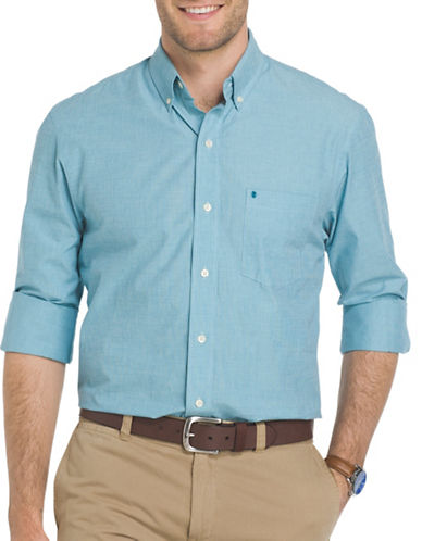 Izod Heritage Essential Sport Shirt-LIGHT BLUE-2X Tall