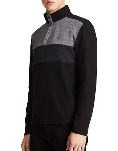 Calvin Klein Colorblock Cotton Pullover-BLACK-Small