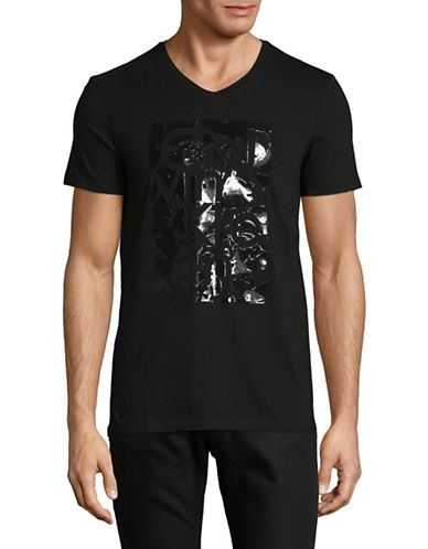 Calvin Klein Distorted Logo T-Shirt-BLACK-X-Large