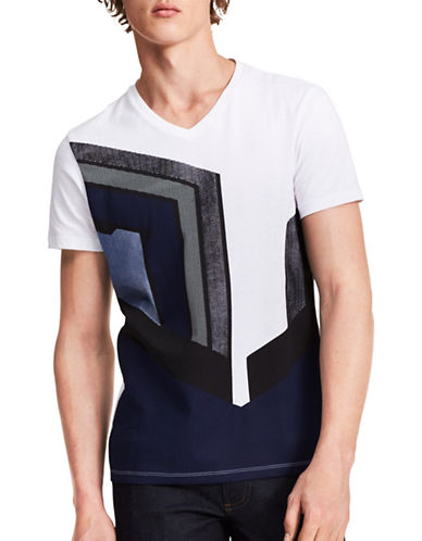 Calvin Klein Racer Cotton T-Shirt-WHITE-Small