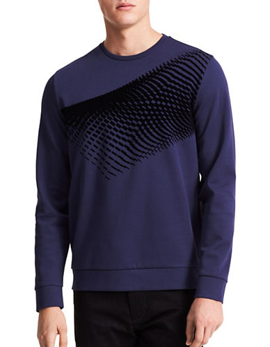 Calvin Klein Slim-Fit Sweatshirt-BLUE-X-Large