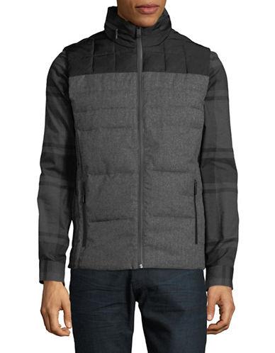 Calvin Klein Faux Wool Puffer Vest-GREY-Medium