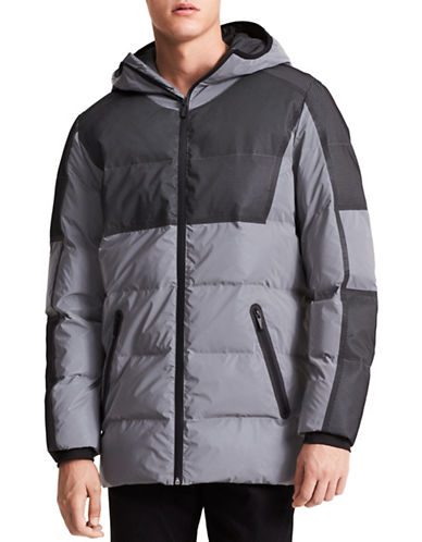 Calvin Klein Reflective Hooded Jacket-GREY-Large