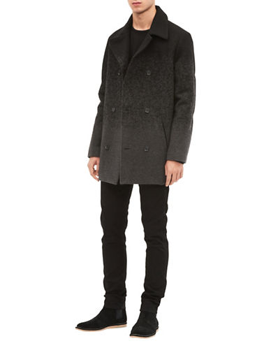 Calvin Klein Ombre Wool-Blend Peacoat-GREY-Large
