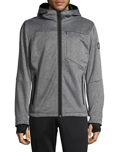 Calvin Klein ID Heather Jacket-GREY-Large