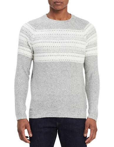 Calvin Klein Slim-Fit Crew Sweater-GREY-Large