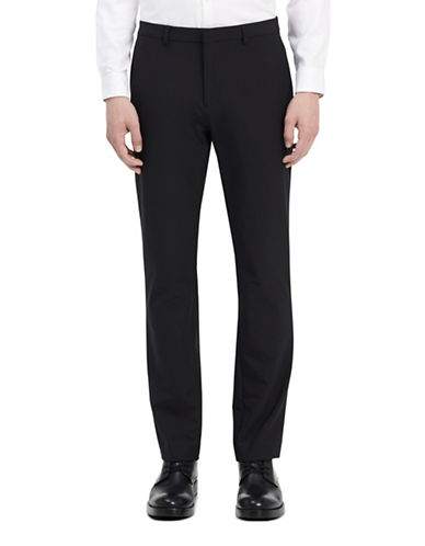Calvin Klein Infinite Tech Dark Dress Pants-BLACK-36X30