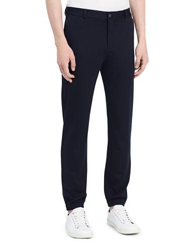 Calvin Klein Flat Front Jogger Pants-BLUE-32X32