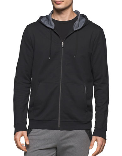 Calvin Klein French Terry Hoodie-BLACK-Large 89465050_BLACK_Large
