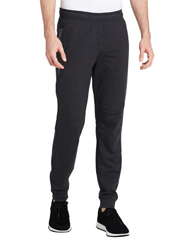 Calvin Klein Mixed Media Terry Sweatpants-GREY-Medium