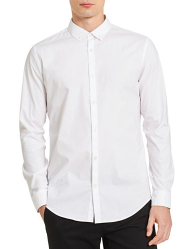 Calvin Klein Infinite Classic-Fit Sport Shirt-WHITE-Medium