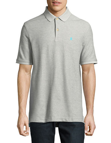 Izod Advantage Contrast Logo Polo-GREY-Large