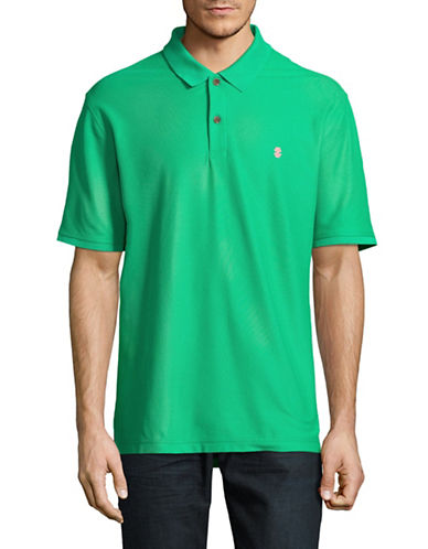 Izod Advantage Contrast Logo Polo-GREEN-Medium