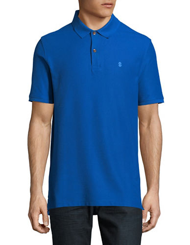Izod Advantage Contrast Logo Polo-BLUE-Small