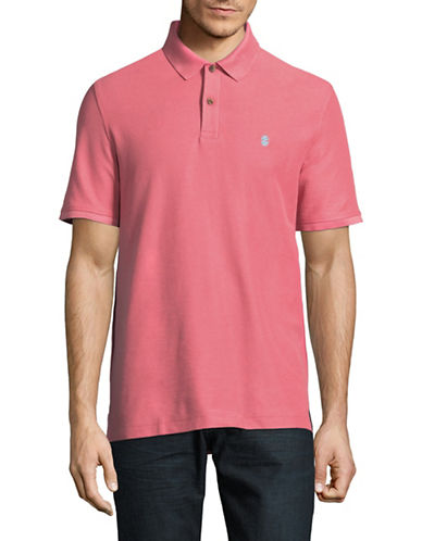 Izod Advantage Contrast Logo Polo-PINK-Medium