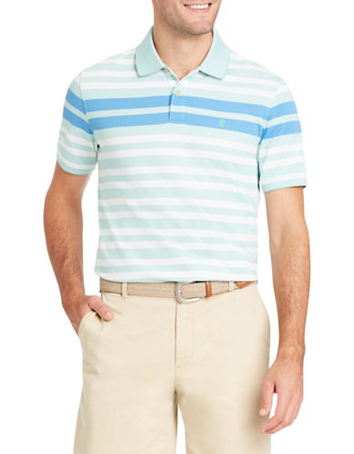 Izod Short-Sleeve Engineered Stripe Polo-GREEN-Medium