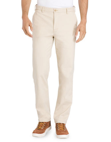Izod Slim Fit Saltwater Chinos-BEIGE-32X30
